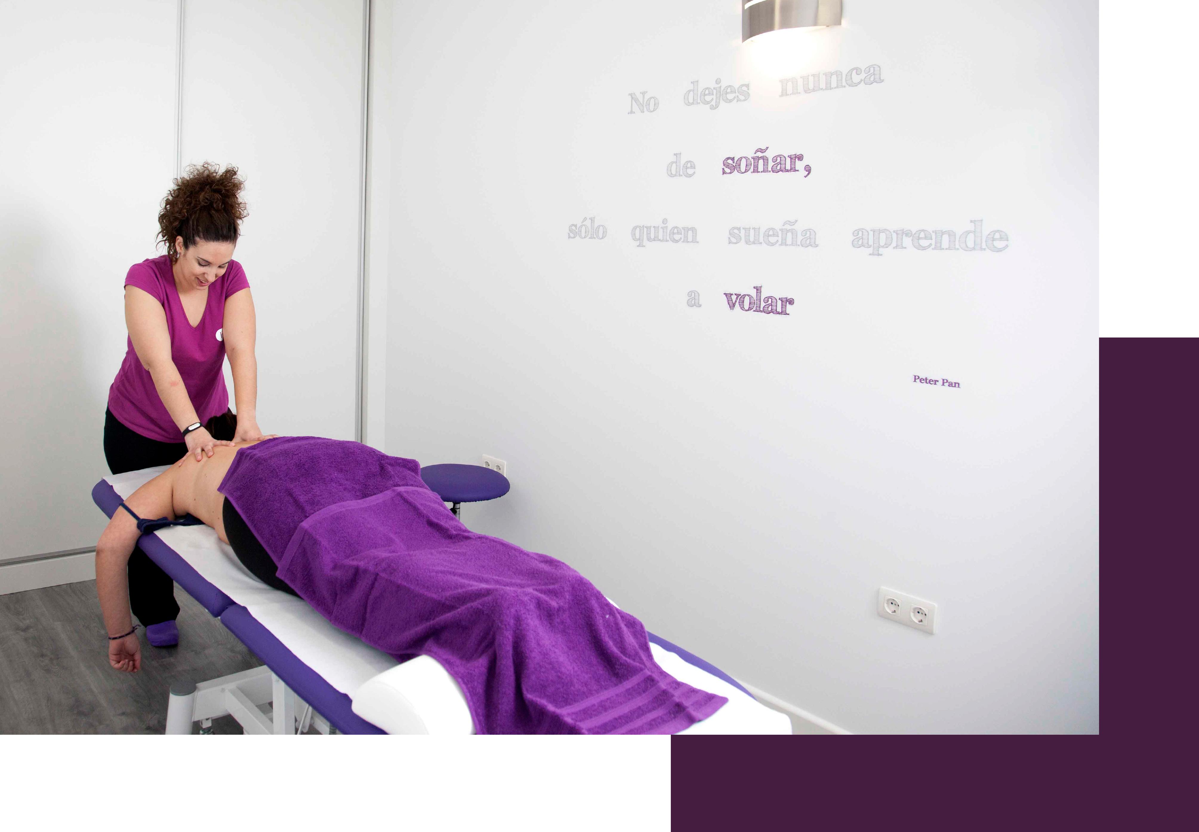 Servicio de fisioterapia y osteopatía general y especialidades en clínica Felicidad Rodríguez